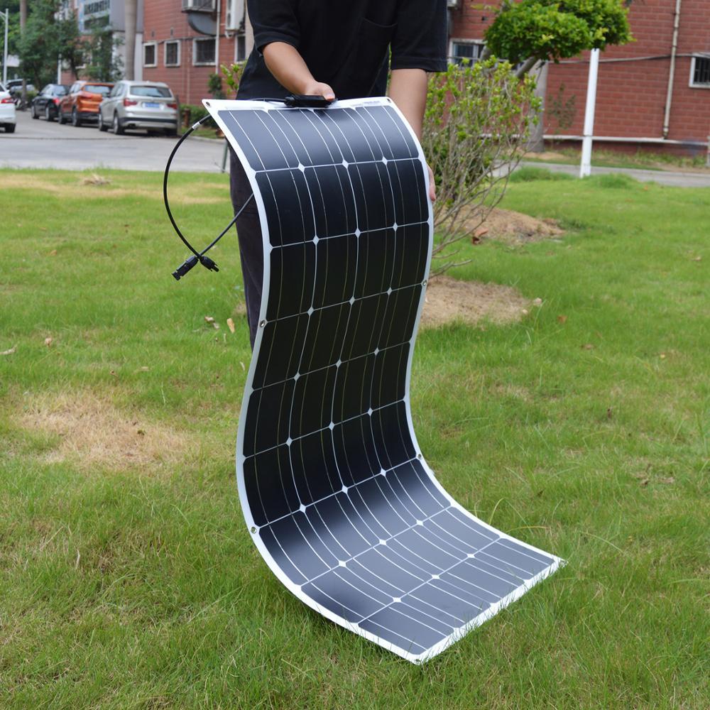 Dokio 12V 100W Flexible Monocrystalline Solar Panel