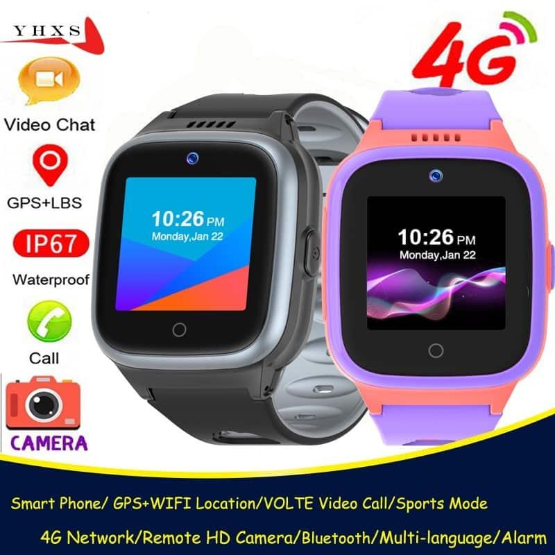 IP67-Waterproof-Smart-4G-Remote-Camera-GPS-WI-FI-Kid-Student-Wristwatch-Video-Call-Monitor-Tracker