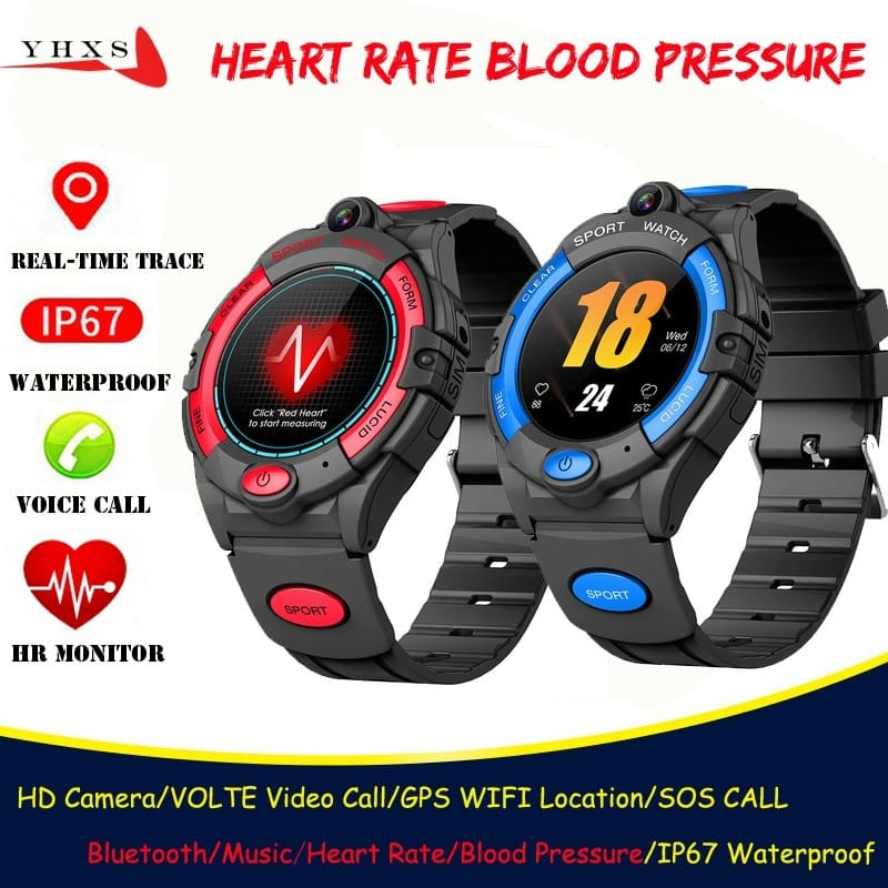 Smart-4G-Video-Call-Watch-Kid-Student-Man-Heart-Rate-Blood-Pressure-Monitor-GPS-Trace-Locate