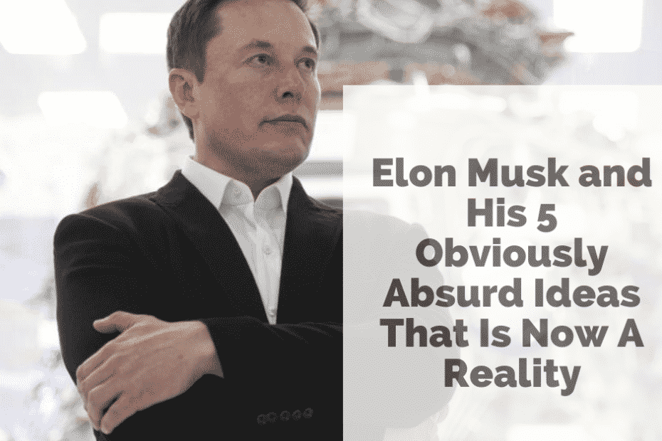 Elon Musk and His 5 Obviously Absurd Ideas That Is Now A Reality