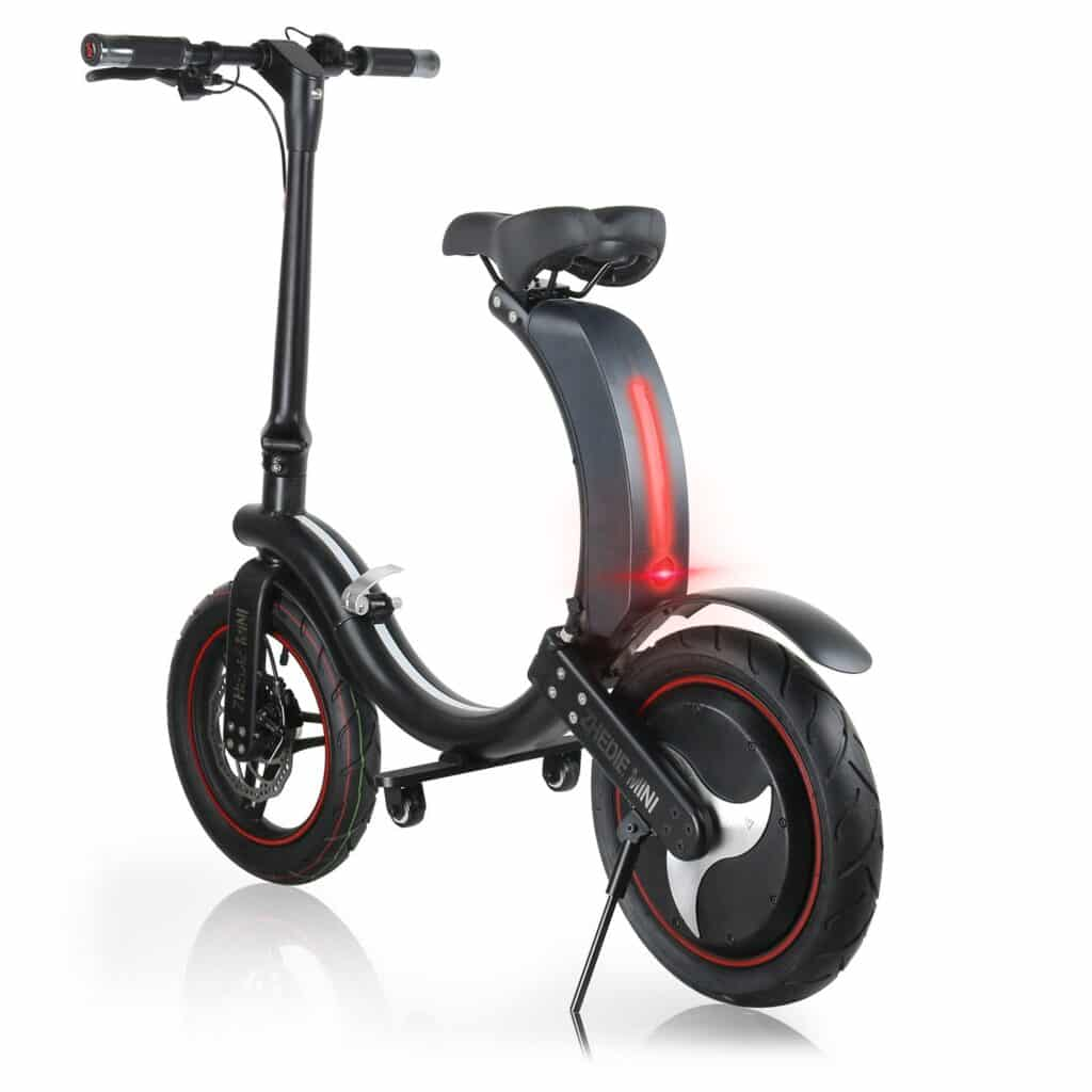 Folding-Electric-Bicycle-Scooter-Hybrid